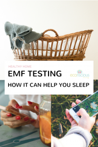EMF testing in the home Pinterest graphic
