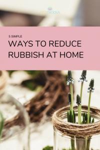 Ways to reduce rubbish Pinterest graphic