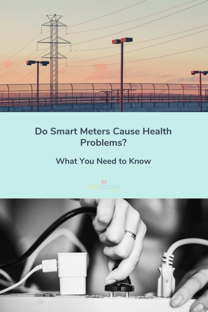 Pinterest graphic with the title Do Smart Meters Cause Health Problems