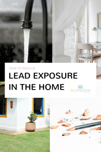How to reduce lead exposure in the home Pinterest graphic