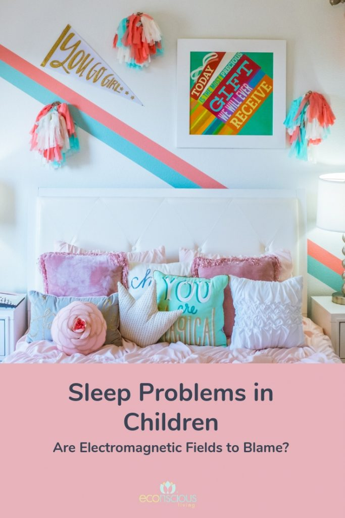 Sleep problems in children pin for later graphic