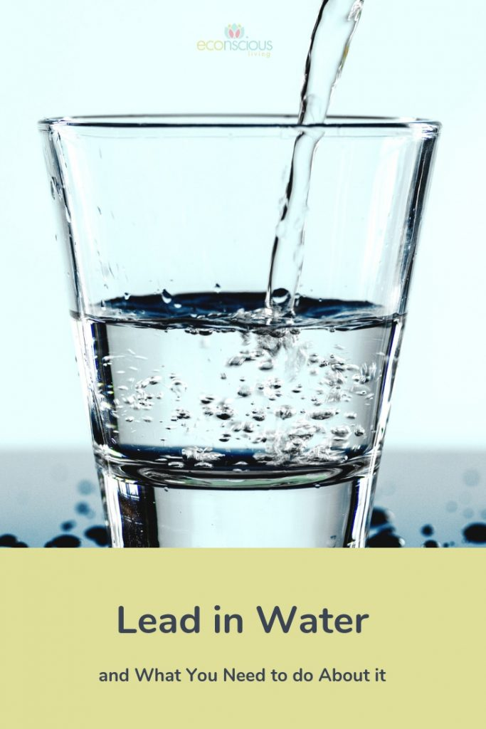 Pinterest graphic showing a glass and lead in water